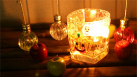 Candle glass for Halloween